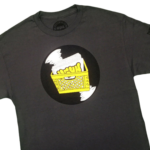 UGHH - 'T-Shirt Records And Milk Crate' [(Dark Gray) T-Shirt]