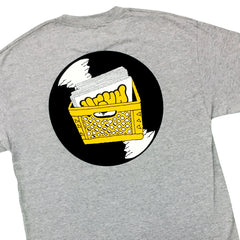 UGHH - 'T-Shirt Records And Milk Crate On Back' [(Gray) T-Shirt]