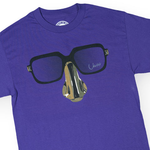 "[""UGHH - 'T-Shirt Digital Underground Nose And Glasses' [(Purple) T-Shirt]""]"