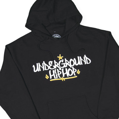 UGHH - 'Handstyle' [(Black) Hooded Sweatshirt]