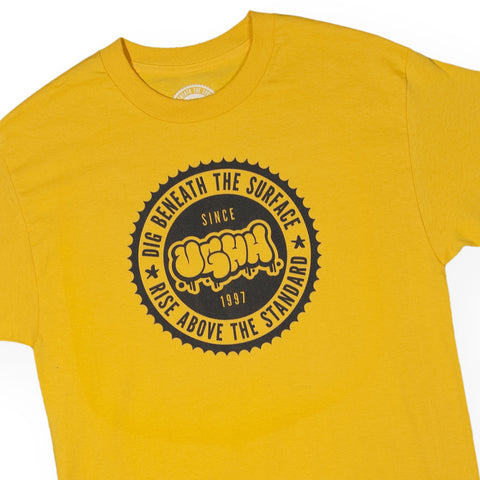 UGHH - 'T-Shirt UGHH Dig Beneath Rise Above Seal' [(Dark Yellow) T-Shirt]