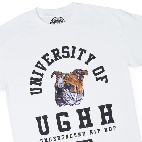 UGHH - 'T-Shirt University Of UGHH Bulldog' [(White) T-Shirt]