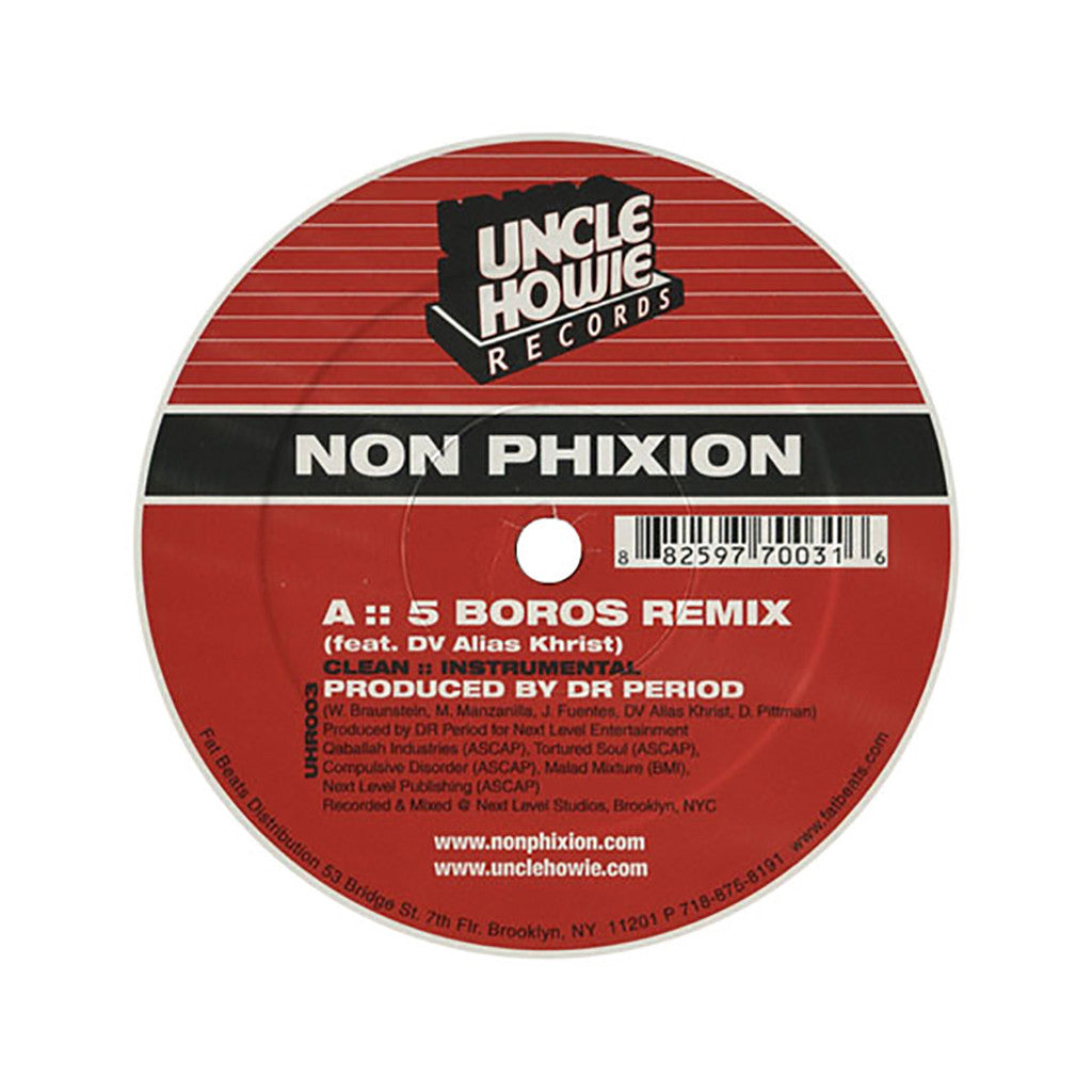 "<!--020040203011790-->Non Phixion - '5 Boros (Remix)/ Hot 97 Freestyle' [(Black) 12"" Vinyl Single]"