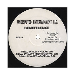 "Beneficence - 'Heavyhitters/ Royal Dynasty' [(Black) 12"" Vinyl Single]"