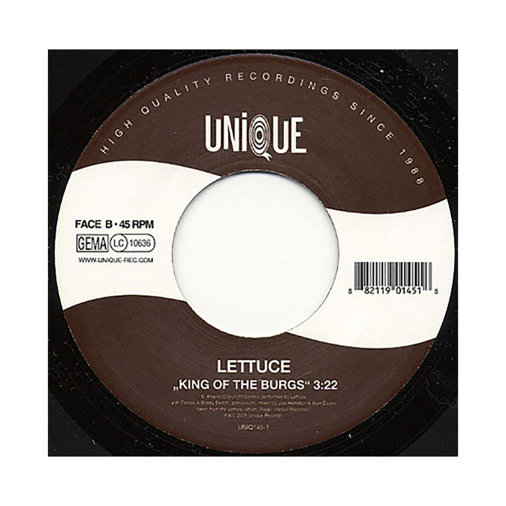 "<!--020080729014498-->Lettuce - 'Move On Up/ King Of The Burgs' [(Black) 7"" Vinyl Single]"
