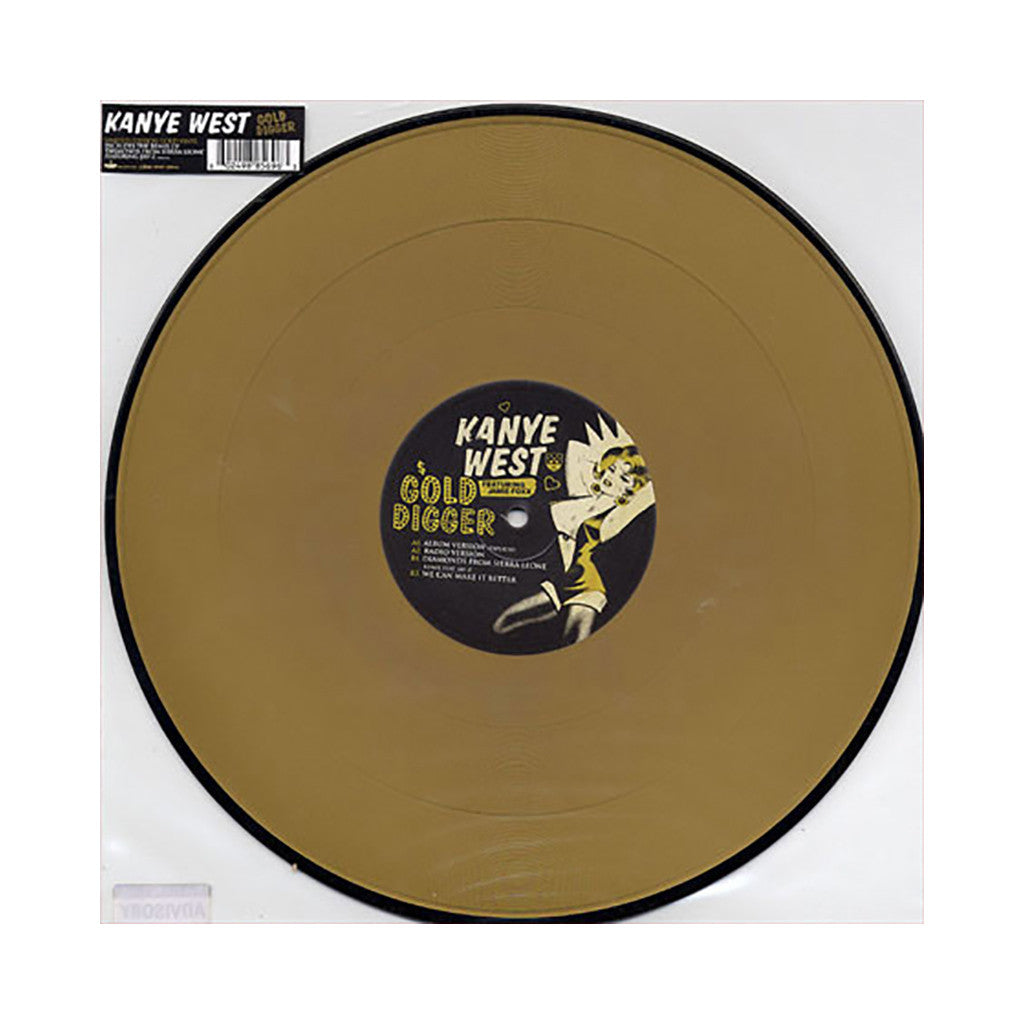"<!--020050802013168-->Kanye West - 'Gold Digger/ Diamonds From Sierra Leone (Remix)/ We Can Make It Better' [(Gold) 12"" Vinyl Single]"