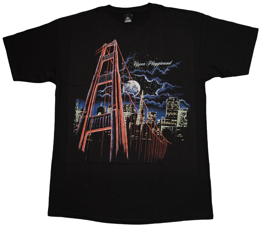 <!--2013032649-->Upper Playground - 'SF Skyline Night' [(Black) T-Shirt]