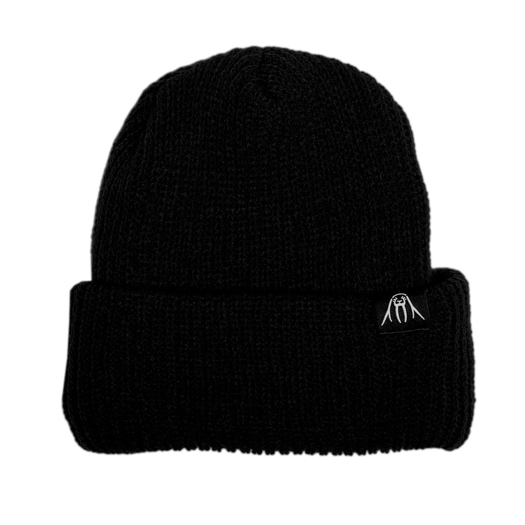 <!--020120110039772-->Upper Playground - 'Walrus Label Cuff Beanie' [(Black) Winter Beanie Hat]