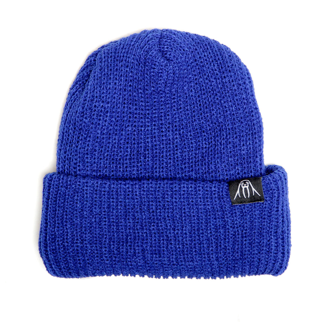 <!--020120110039771-->Upper Playground - 'Walrus Label Cuff Beanie' [(Blue) Winter Beanie Hat]