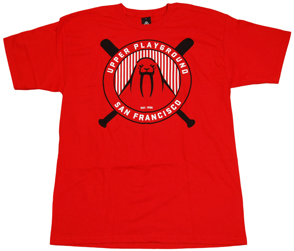 <!--2011041901-->Upper Playground - 'Baseball Emblem' [(Red) T-Shirt]