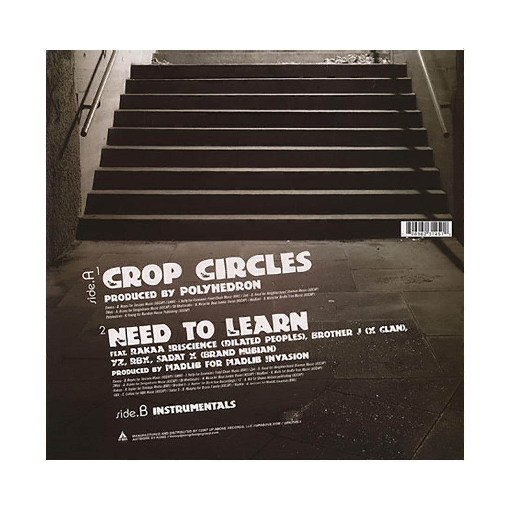 "Visionaries - 'Crop Circles/ Need To Learn' [(Black) 12"" Vinyl Single]"