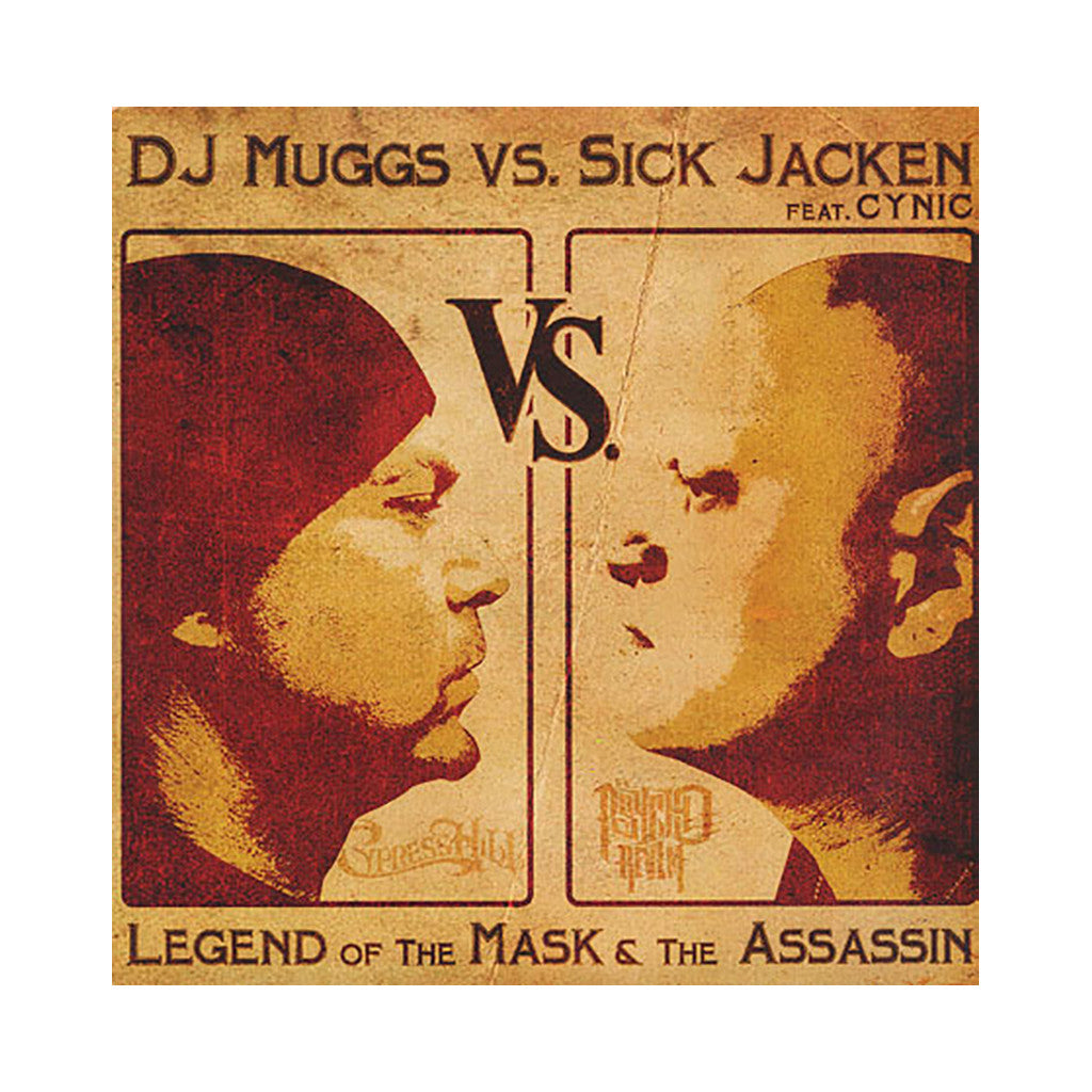 "DJ Muggs vs. Sick Jacken w/ Cynic - 'Mask And The Assassin/ El Barrio' [(Black) 12"" Vinyl Single]"