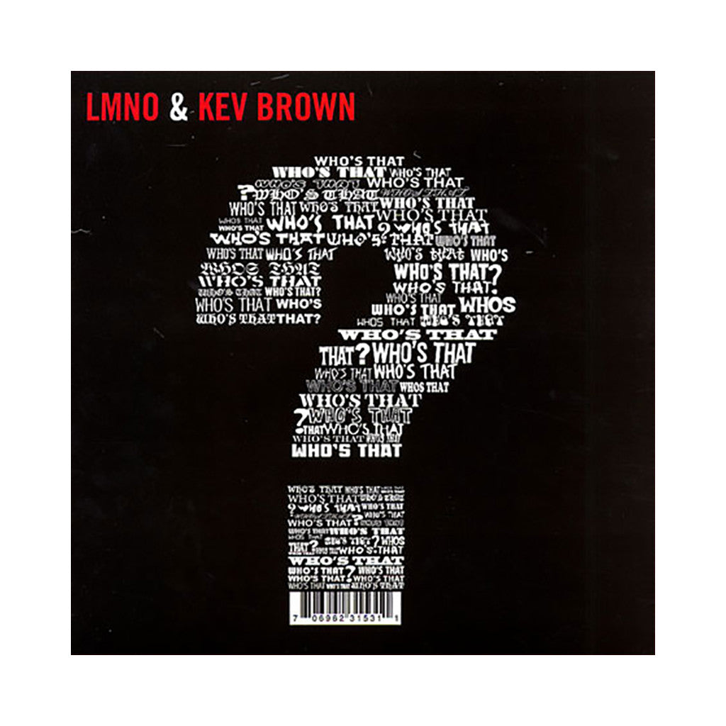 "LMNO & Kev Brown - 'Who's That/ The Cause' [(Black) 12"" Vinyl Single]"