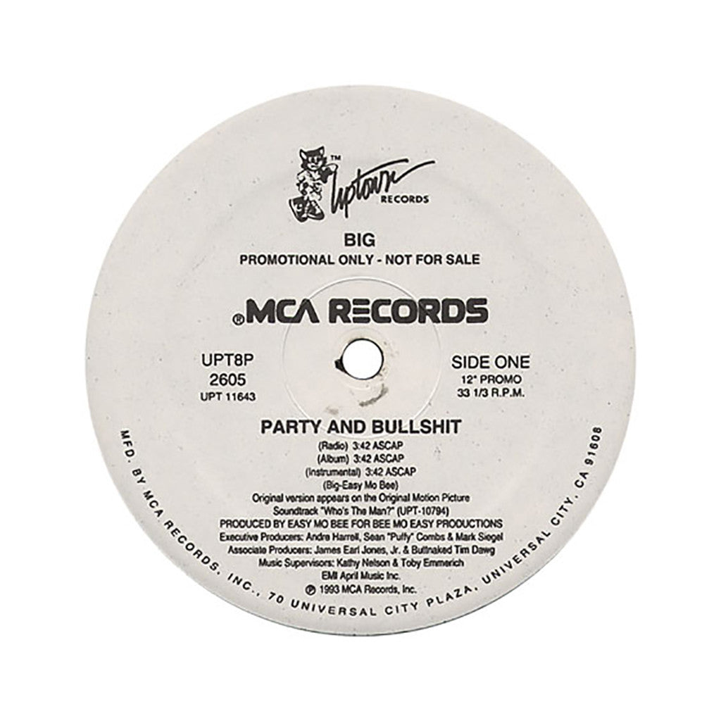 "<!--019930101011477-->The Notorious B.I.G. - 'Party & Bullshit' [(Black) 12"" Vinyl Single]"