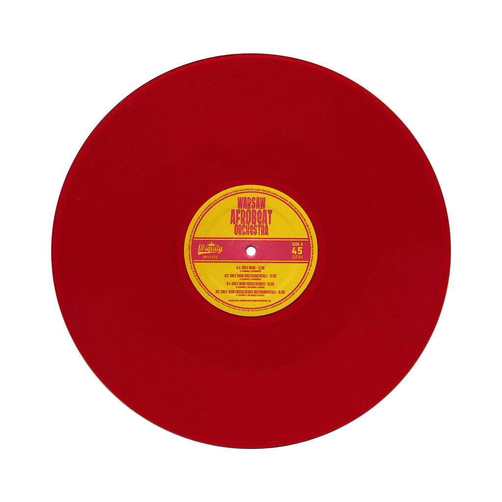 "<!--2013121712-->Warsaw Afrobeat Orchestra - 'Only Now/ Only Now (Bosq Remix)' [(Clear Red) 12"" Vinyl Single]"