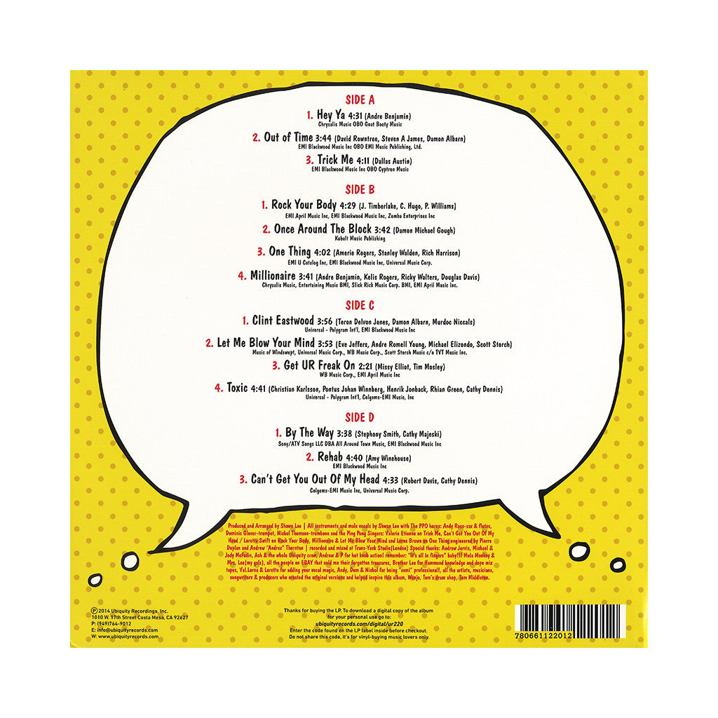 <!--020141202064680-->Shawn Lee's Ping Pong Orchestra - 'Hits The Hits' [(Yellow) Vinyl [2LP]]