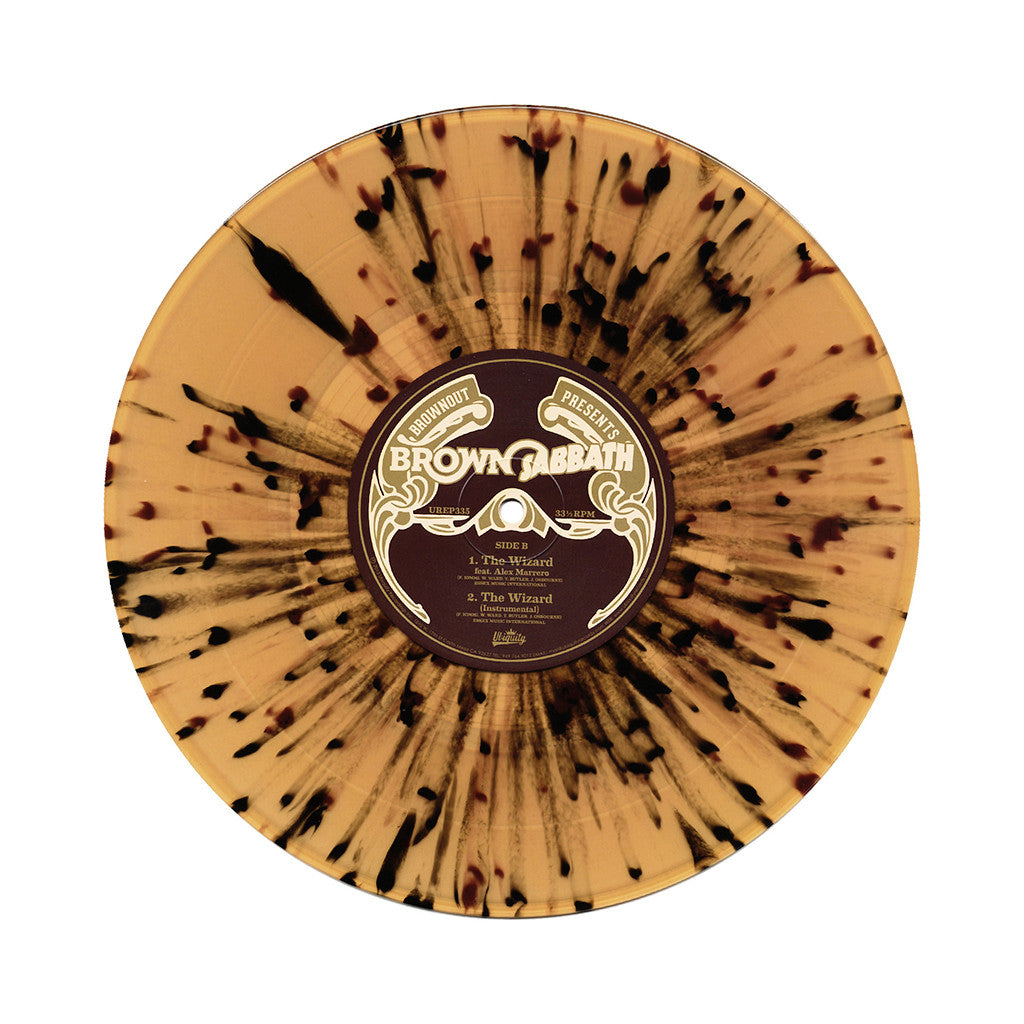 "<!--020140617063519-->Brown Sabbath - 'Hand Of Doom/ The Wizard' [(Multi-Color Splatter) 10"" Vinyl Single]"