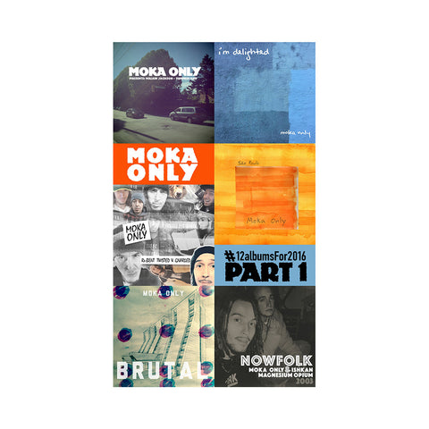 "[""Moka Only - '#12albumsFor2016 Cassette Collection Part 1' [Cassette Tape]""]"