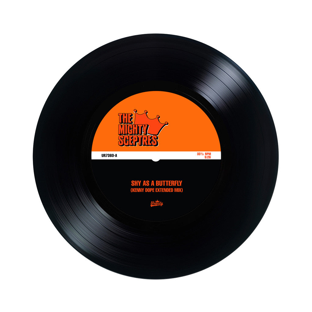 "The Mighty Sceptres - 'Shy As A Butterfly/ Nothing Seems To Work' [(Black) 7"" Vinyl Single]"