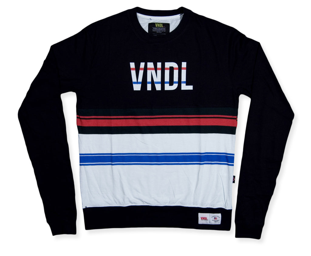 <!--2014100224-->Vandal Collective - 'Americana Jumper' [(Black) Crewneck Sweatshirt]