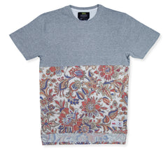 <!--2014100206-->Vandal Collective - 'Majestic Paisley Half' [(Gray) T-Shirt]
