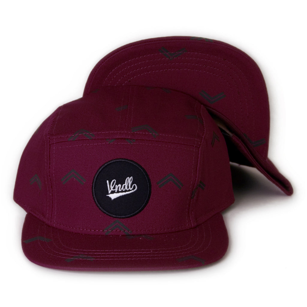 <!--020131205061353-->Vandal Collective - 'Arrow Allover' [(Dark Red) Five Panel Camper Hat]