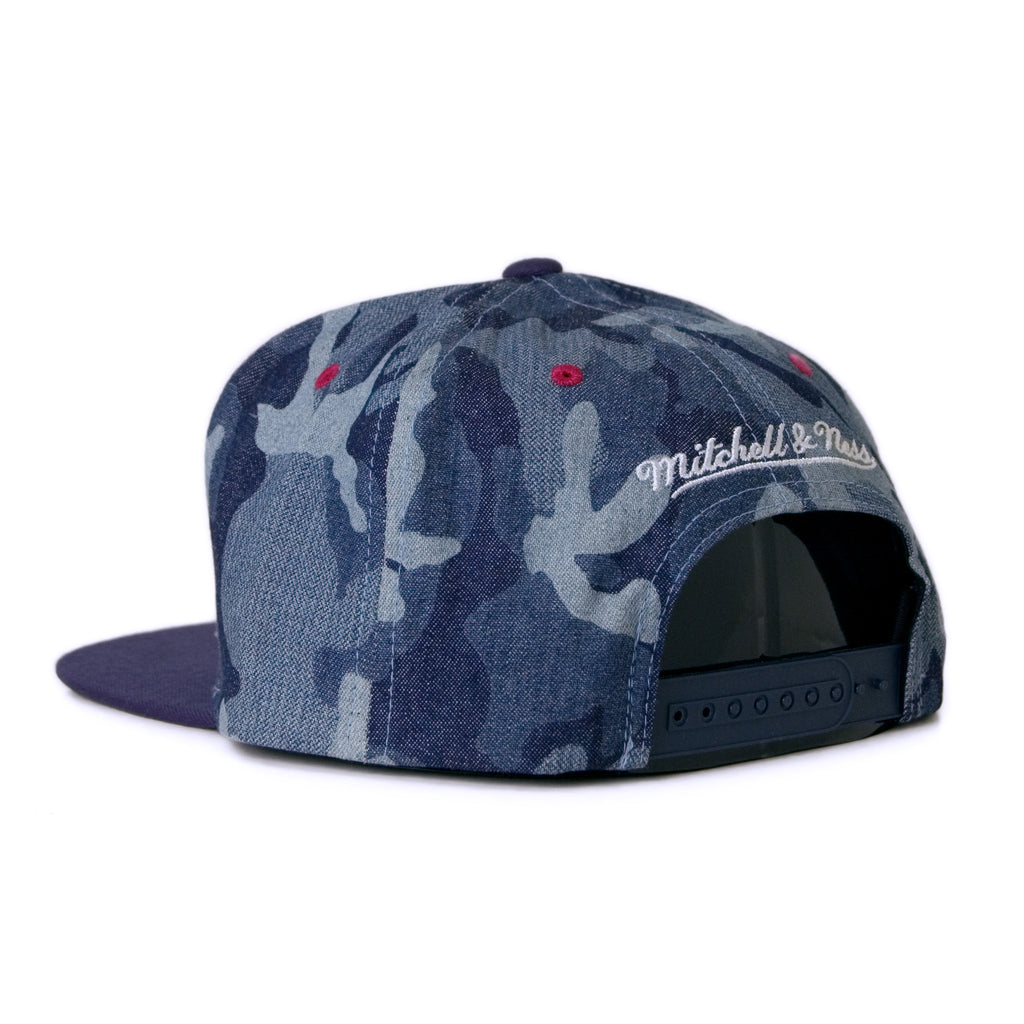 <!--020140819065392-->Mitchell & Ness x NBA - 'Washington Wizards - Denim Camo' [(Blue) Snap Back Hat]