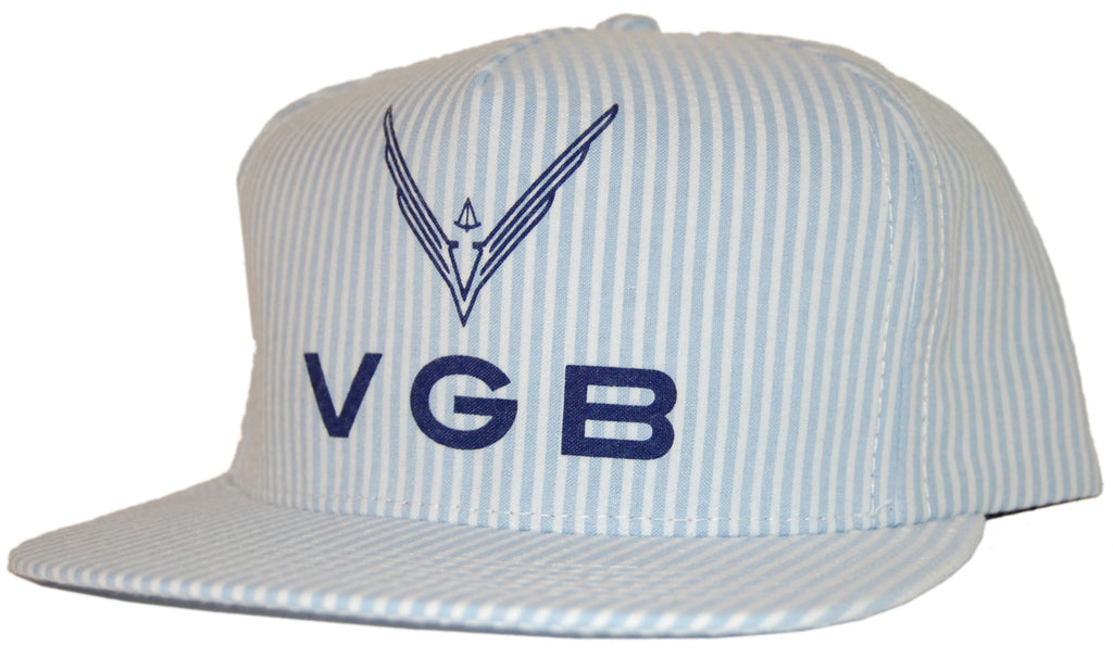 <!--020110705032022-->VGB - 'Seersucker Logo Trucker' [(Light Blue) Snap Back Hat]