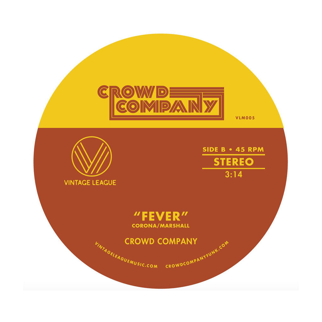 "Crowd Company - 'Fever/ Getting The Groove' [(Orange) 7"" Vinyl Single]"