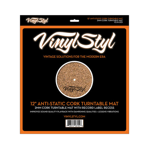"[""Vinyl Styl - '12\"" Anti-Static Cork Turntable Mat' [Slipmat]""]"