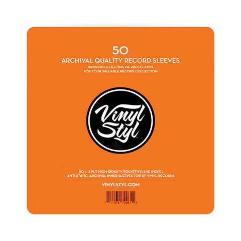 "[""Vinyl Styl - 'Archive Quality Inner Record Sleeves (x50)' [Sleeves & Jacket]""]"