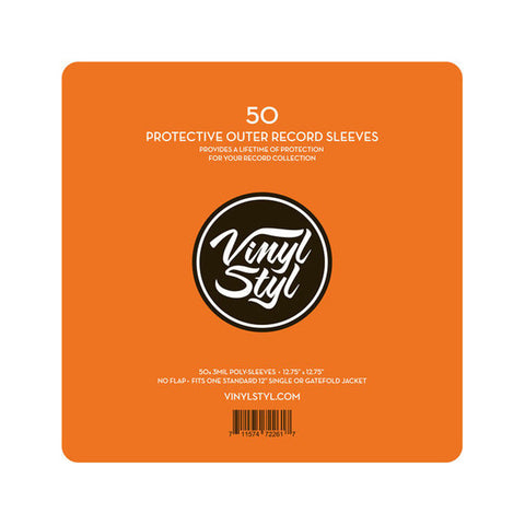"[""Vinyl Styl - '7\"" Vinyl Protective Outer Record Sleeves (x50)' [Sleeves & Jacket]""]"