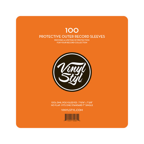 "[""Vinyl Styl - '7\"" Vinyl Protective Outer Record Sleeves (x100)' [Sleeves & Jacket]""]"