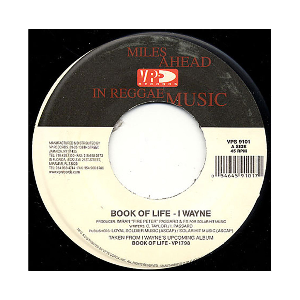 <!--2008051553-->I Wayne - 'Book Of Life' [Streaming Audio]