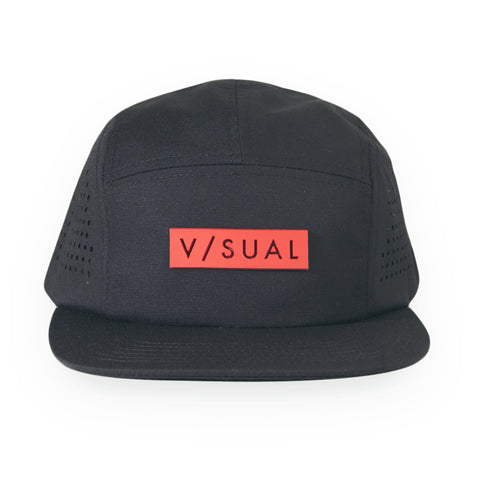 V/SUAL - 'Perf Camper' [(Black) Five Panel Camper Hat]
