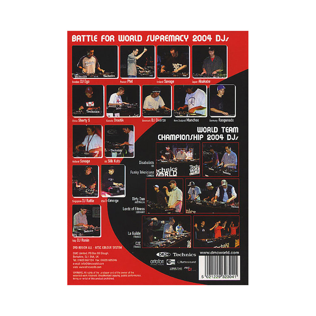 <!--020050101006653-->DMC & Technics - '2004 World Team Championship & Battle For World Supremecy' [DVD]