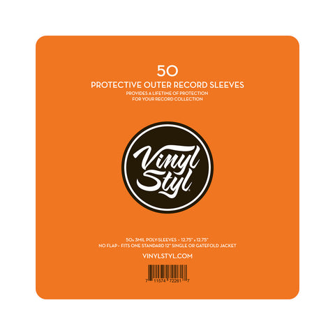 "[""Vinyl Styl - '12\"" Vinyl Protective Outer Record Sleeves (x50)' [(Clear) Sleeves & Jacket]""]"