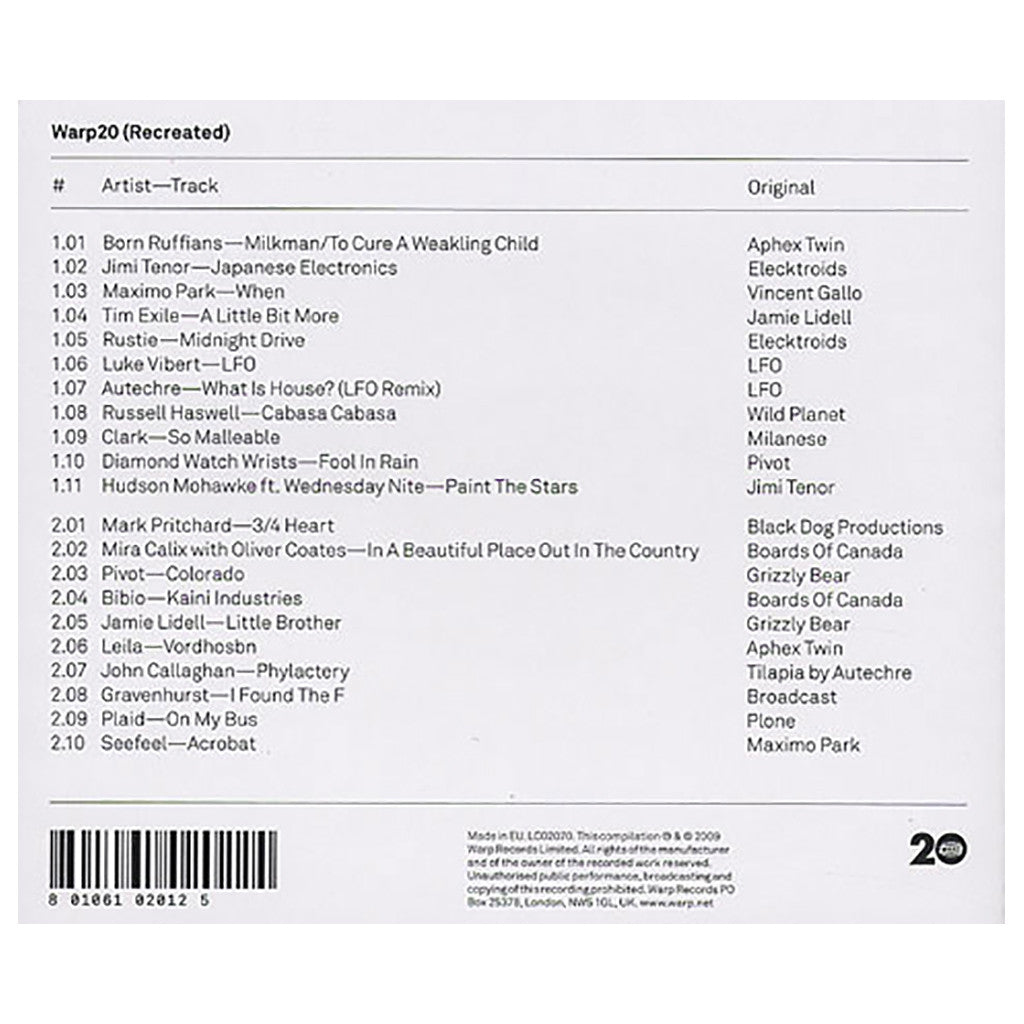 <!--120090929018234-->Various Artists - 'Warp20: Recreated' [CD [2CD]]