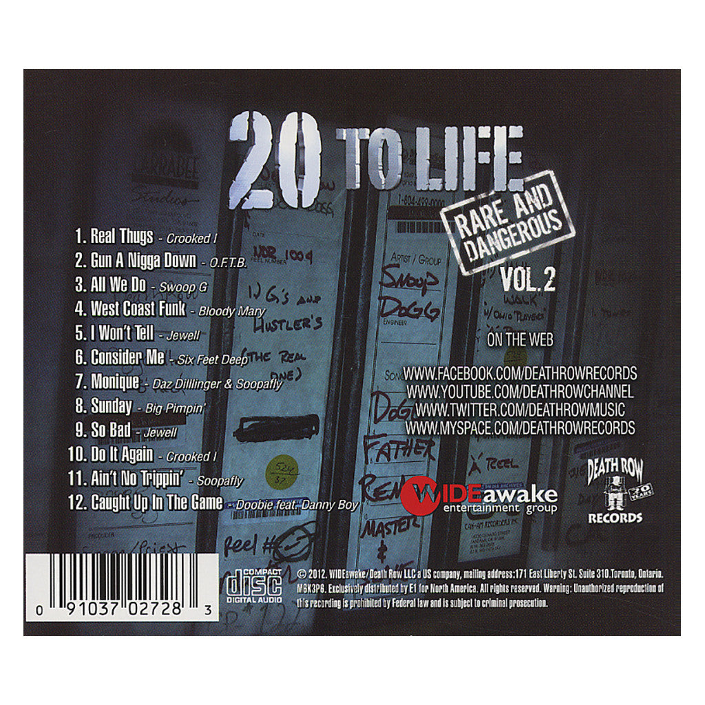 <!--120120925048047-->Various Artists - '20 To Life: Rare And Dangerous Vol. 2' [CD]