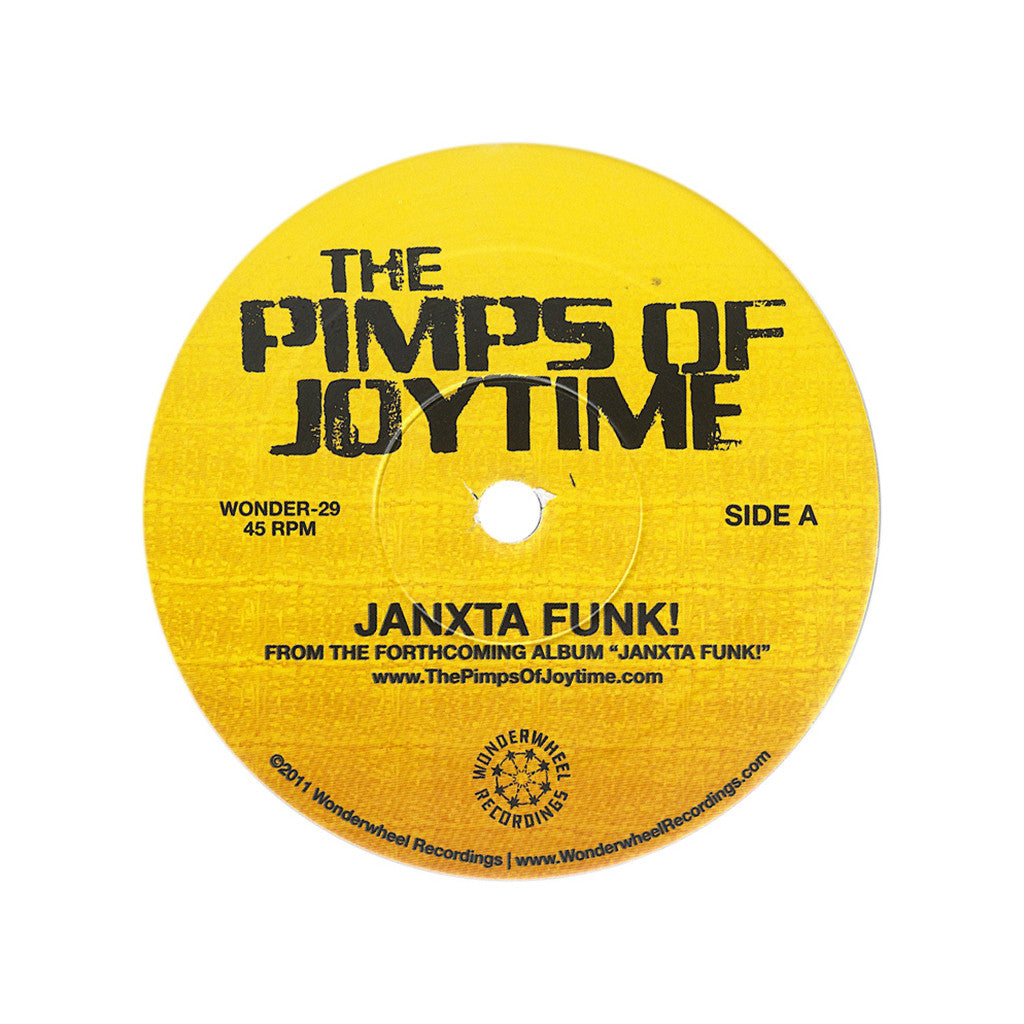 "<!--020110301027664-->The Pimps Of Joytime - 'Janxta Funk!/ Honey Of Your Smile' [(Black) 7"" Vinyl Single]"