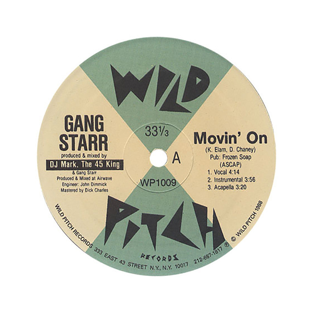 "<!--1988010143-->Gang Starr - 'Movin' On/ Gusto/ Knowledge' [(Black) 12"" Vinyl Single]"