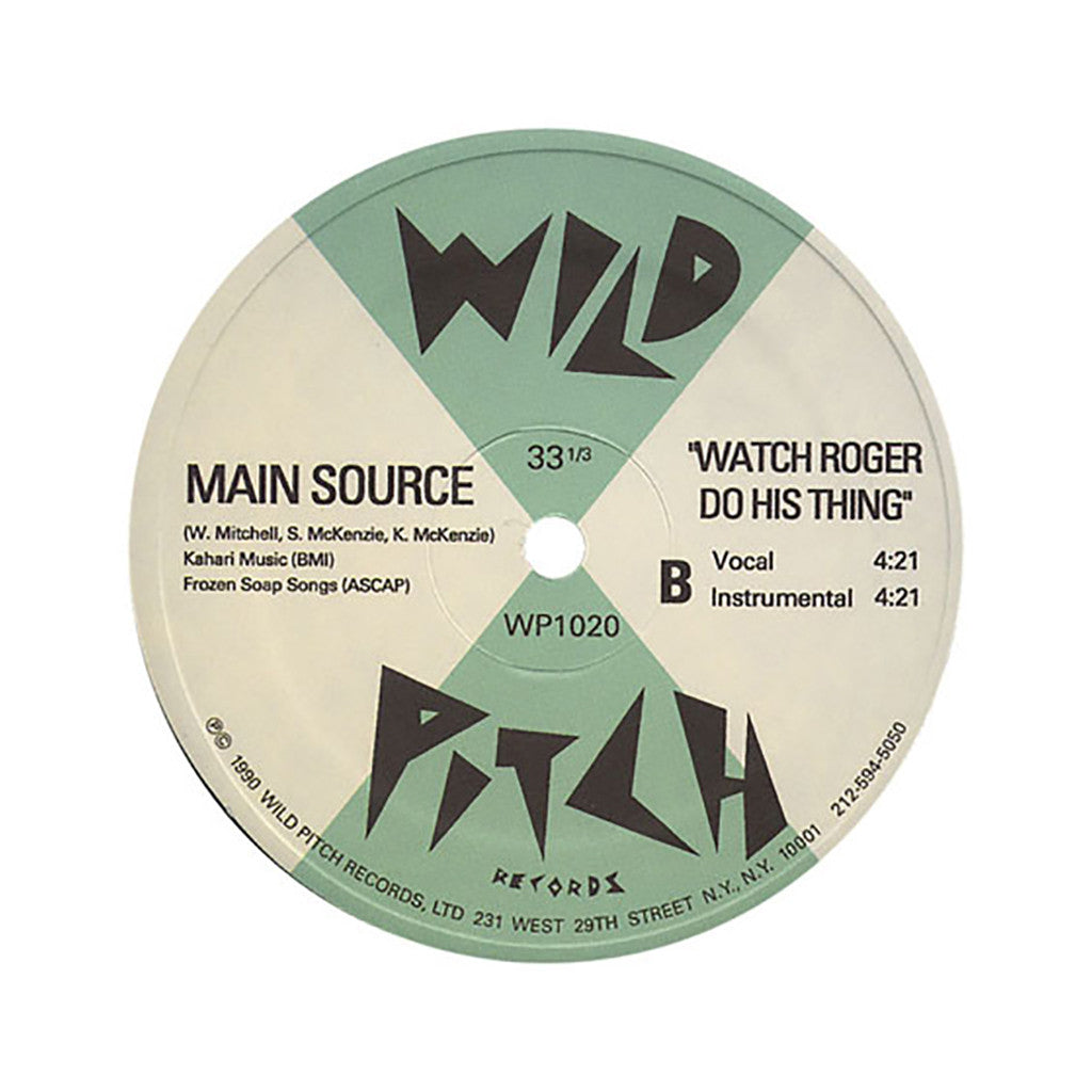 "<!--019900101011922-->Main Source - 'Looking At The Front Door/ Watch Roger Do His Thing' [(Black) 12"""" Vinyl Single]"