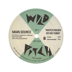 "<!--019900101011922-->Main Source - 'Looking At The Front Door/ Watch Roger Do His Thing' [(Black) 12"" Vinyl Single]"