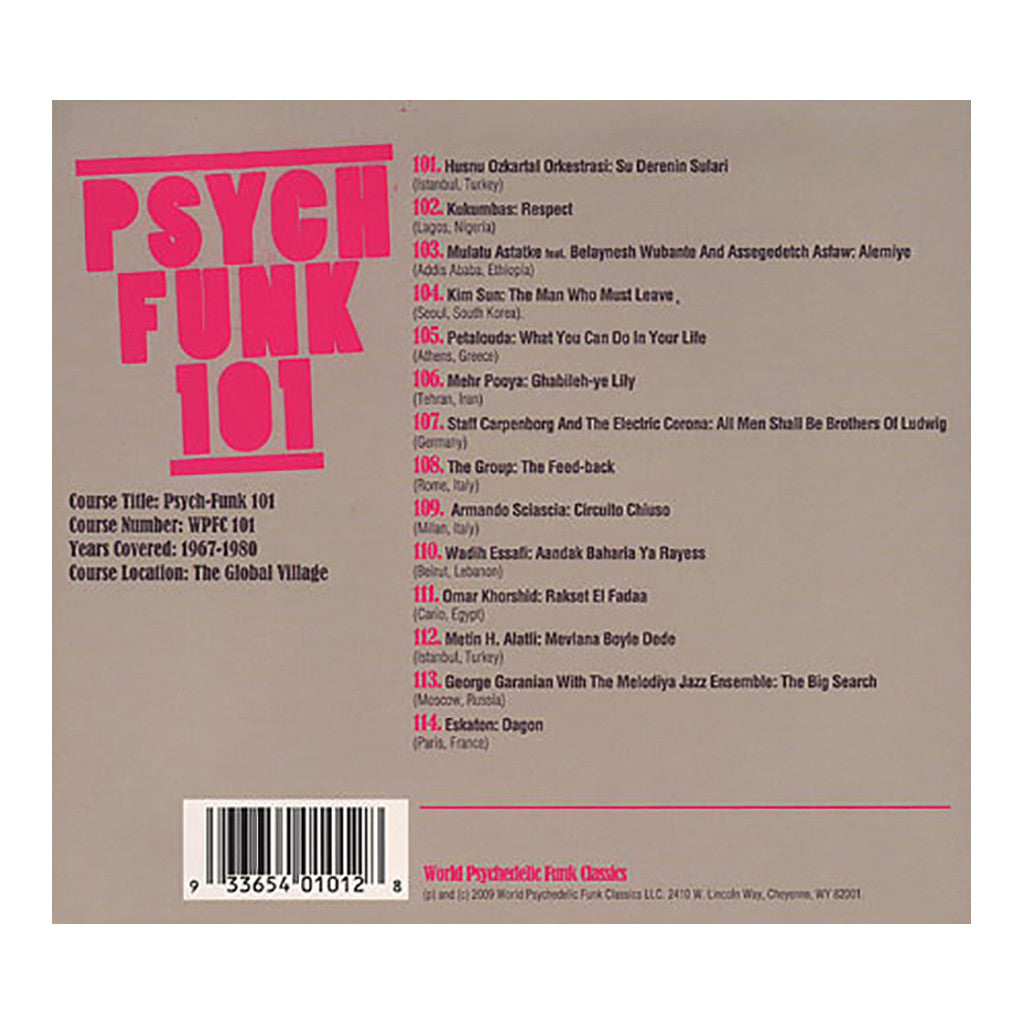 Various Artists - 'Psych-Funk 101 (1968-1975): A Global Psychedelic Funk Curriculum' [CD]