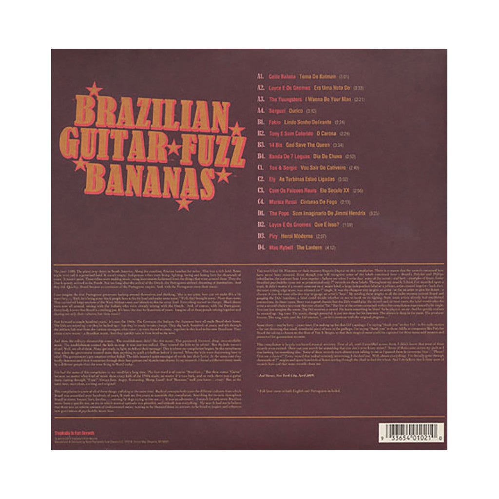 Various Artists - 'Brazilian Guitar Fuzz Bananas: Tropicalia Psychedelic Masterpieces 1967-1976' [(Black) Vinyl [2LP]]