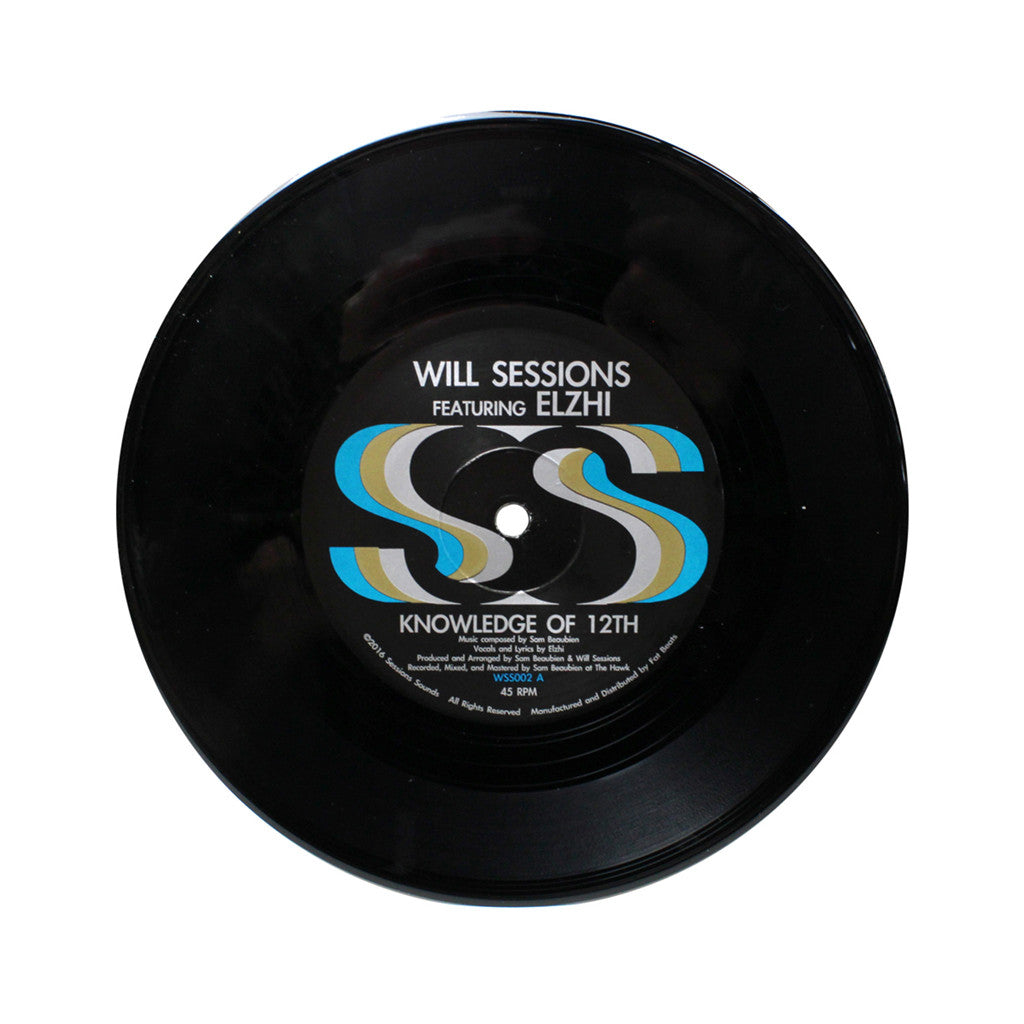 "Will Sessions - 'Knowledge of 12th' [(Black) 7"" Vinyl Single]"