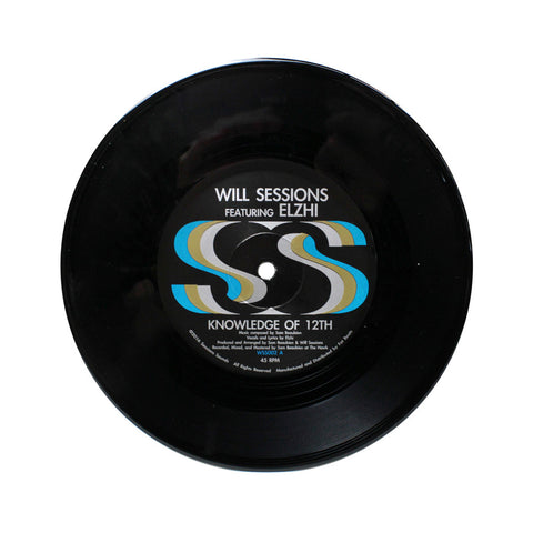 "Will Sessions - 'Knowledge of 12th' [(Black) 7"""" Vinyl Single]"