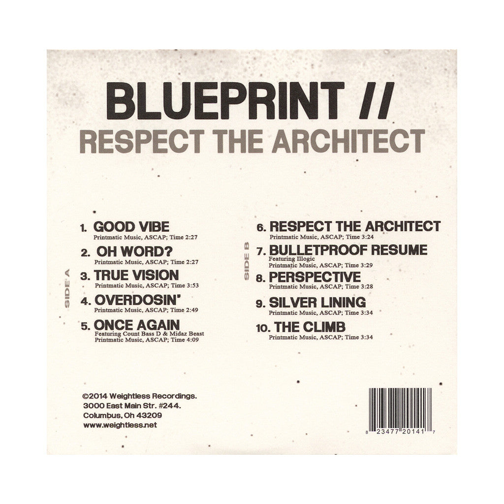 Blueprint - 'Respect The Architect' [CD]