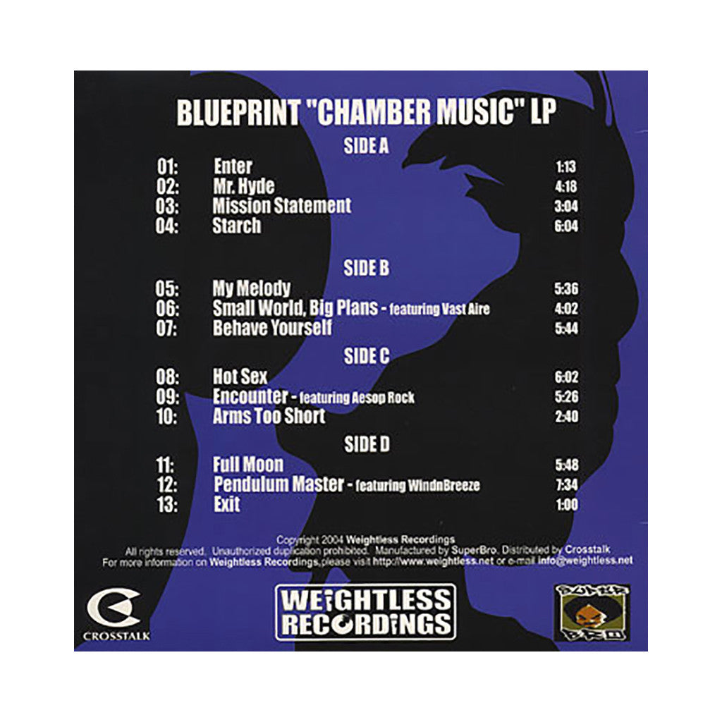 Blueprint - 'Chamber Music' [(Black) Vinyl LP]