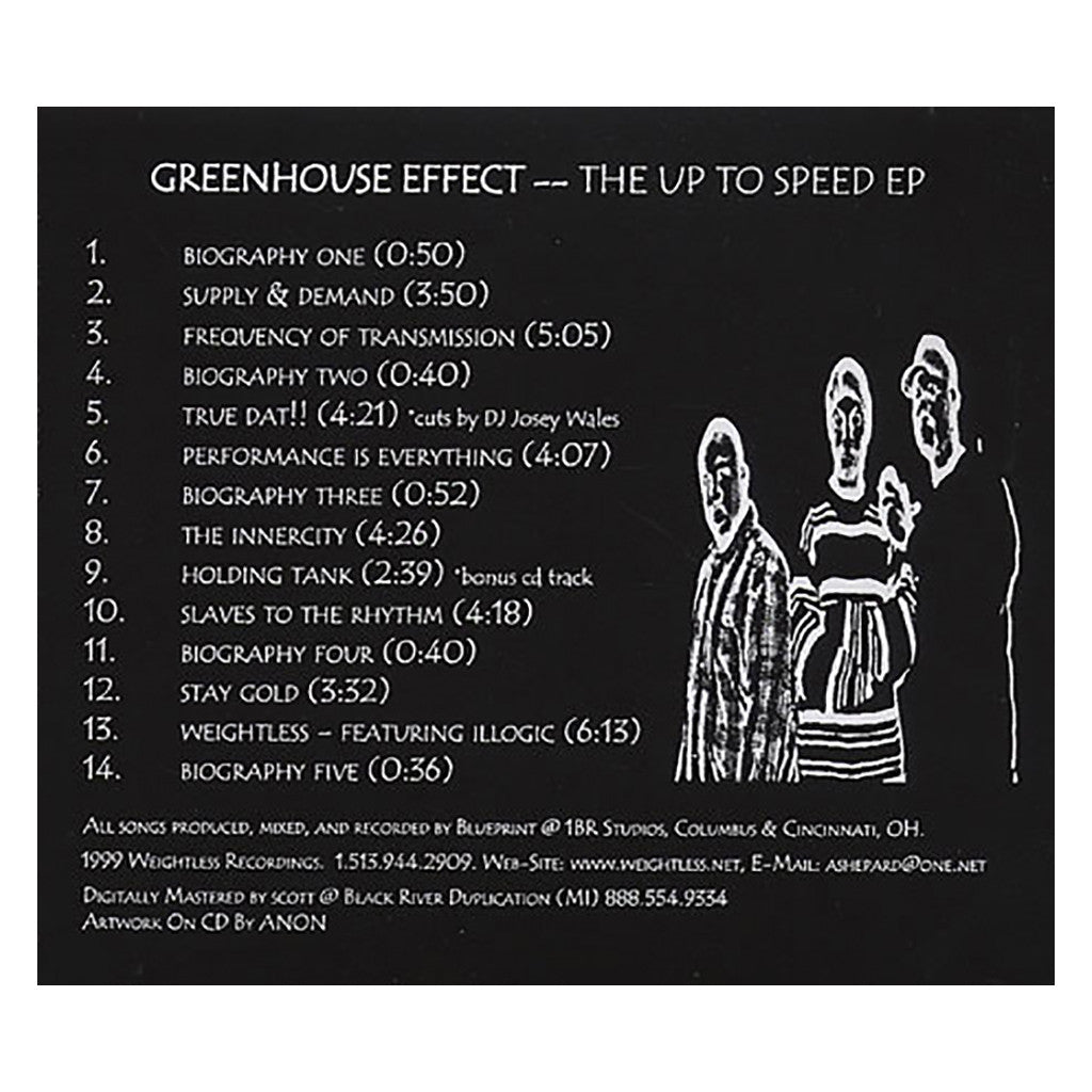 Greenhouse Effect - 'The Up To Speed EP' [CD]